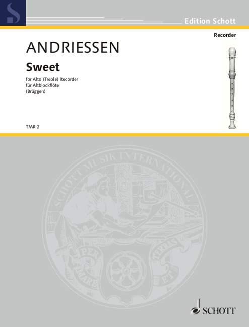 Louis treble recorder 9790220117107 Sweet Andriessen